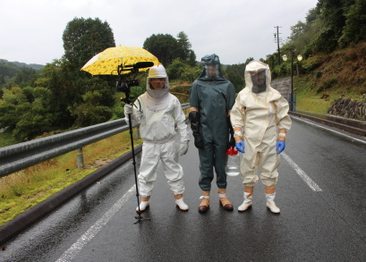Andreas, Josh & Roberto chasing Japanese Hornets. Photo by Andreas Johnsen, courtesy Kino Lorber.