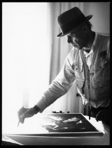 Joseph Beuys. Photo by Buby Durini, courtesy Kino Lobber / Zero One Film / Archivio Storico De Domino Durini.