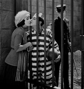 Sybil Seeley and Buster Keaton in CONVICT 13 (1920).