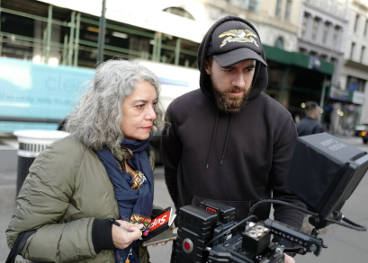 Director Tania Cypriano (she/her) on the set of Born to Be, courtesy Kino Lorber