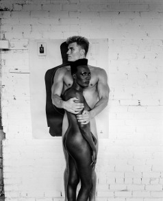 Grace Jones and Dolph Lundgren, Los Angeles, 1985.  Photo by Helmut Newton, courtesy Helmut Newton Foundation.
