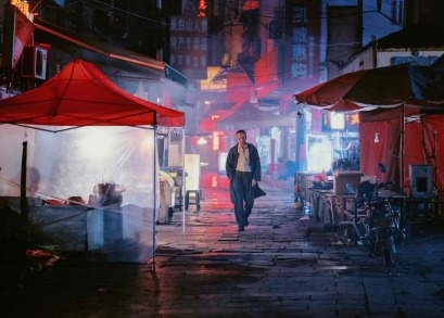 Jue Huang in a scene from <i>Long Day's Journey Into Night</I>. Photo by Bai Linghai, courtesy Kino Lorber.