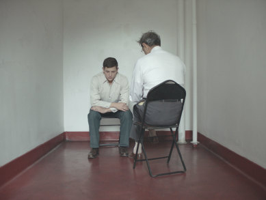 Tye Sheridan and Jeff Goldblum in a scene from <i>The Mountain</i>, courtesy Kino Lorber