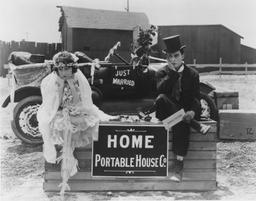 Sybil Seeley and Buster Keaton in ONE WEEK (1920).