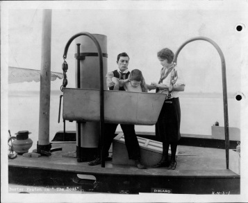 Buster Keaton and Sybil Seeley in THE BOAT (1921).