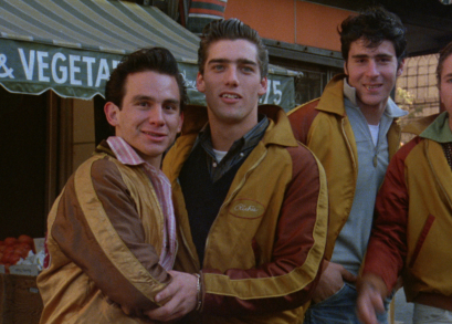 (l-r): John Friedrich, Ken Wahl, Tony Ganios and Jim Youngs as THE WANDERERS.