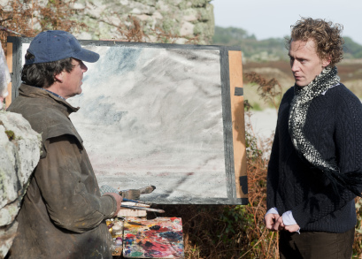 Christopher Baker as Christopher and Tom Hiddleston as Edward in ARCHIPELAGO, a film by Joanna Hogg.