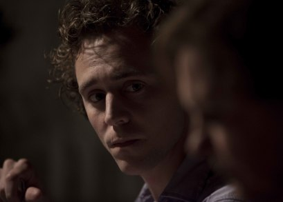 Tom Hiddleston as Edward and Kate Fahy as Patricia in ARCHIPELAGO, a film by Joanna Hogg.