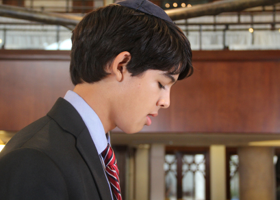 Josh (Luca Oriel) at his bar mitzvah.
