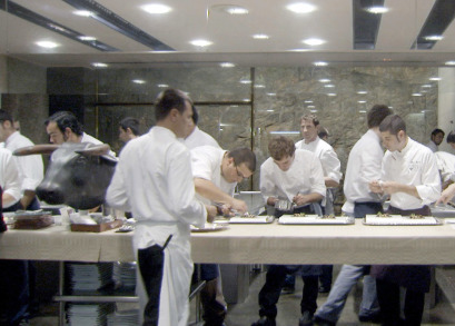 The El Bulli staff at work.