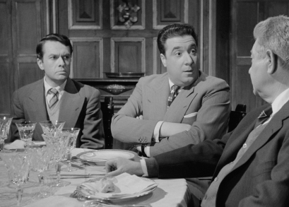 Robert Hirsch as Lucien Sabatier and Jacques Morel as Maître Mauléon in MAIGRET AND THE ST. FIACRE CASE.