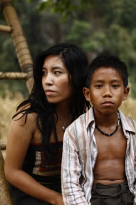Alice Keohavong as Mali and Sitthiphon Disamoe as Ahlo in THE ROCKET, a film by Kim Mordaunt.