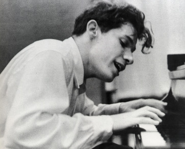 Glenn Gould at his debut recording of Bach's Goldberg Variations.Columbia