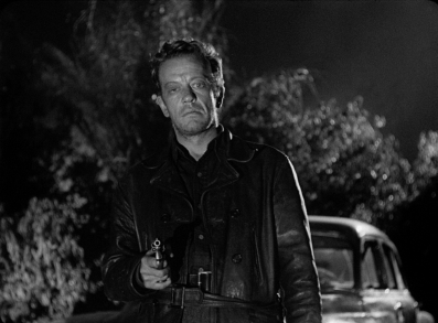 William Talman may be outnumbered for most of the running time, but his is a frightening and formidable villain in Ida Lupino's THE HITCH-HIKER.