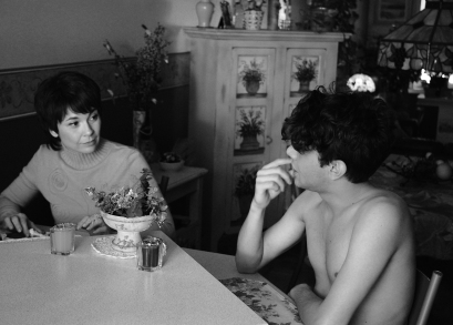 Anne Dorval as Chantale and Xavier Dolan as Hubert in I KILLED MY MOTHER, a film by Xavier Dolan.
