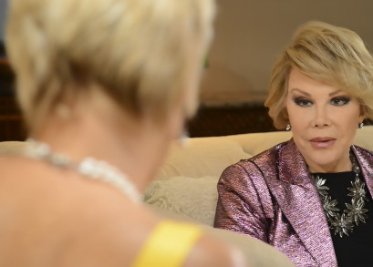 Joan Rivers talking to Dr. Pam in <i>Love, Sweat & Tears</i>