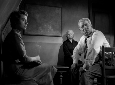 Annie Girardot, Lucienne Bogaert, and Jean Gabin in MAIGRET SETS A TRAP.