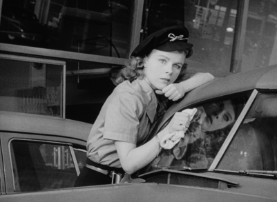 Sally (Sally Forrest) can't get her mind off of Steve (Leo Penn) in Ida Lupino's NOT WANTED.