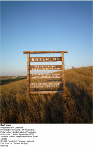 Entrance of Pine Ridge Reservation,