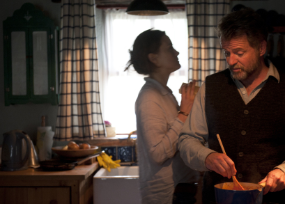 Taylor Schilling and Aidan Quinn in STAY.