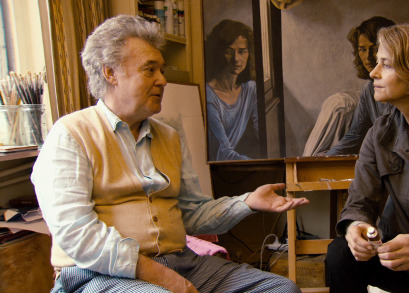 Anthony Palliser and Charlotte Rampling in a scene from Angelina Maccarone's documentary CHARLOTTE RAMPLING: THE LOOK.