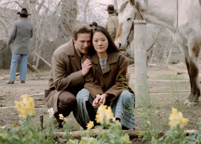 Chris Cooper as Charlie and Rosalind Chao as Lalu in Nancy Kelly's THOUSAND PIECES OF GOLD.