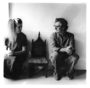 Portrait of Francesca Woodman and her father George Woodman, taken by Francesca Woodman. Untitled 1980 (New York)