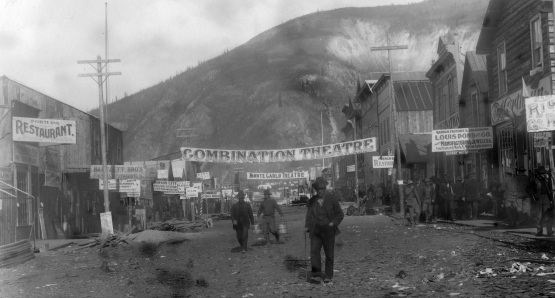 First Avenue in Dawson City, 1898.