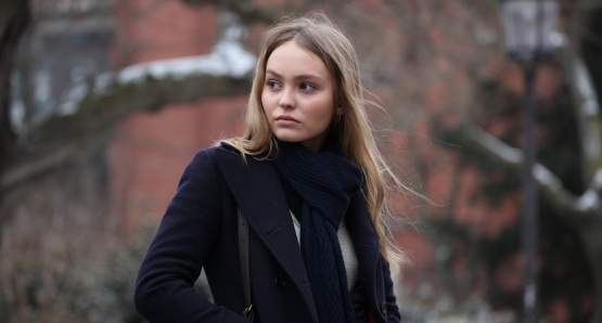 Lily-Rose Depp in a scene from <i>A Faithful Man</i>, courtesy Kino Lorber