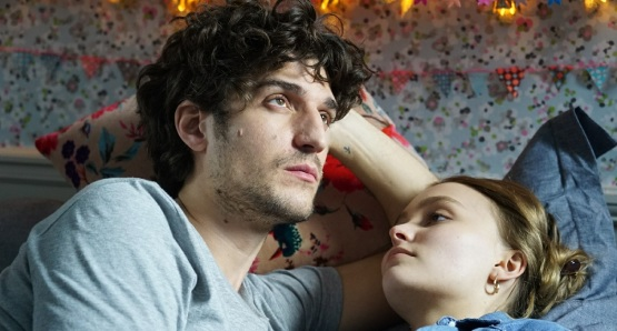 Louis Garrel and Lily-Rose Depp in a scene from <i>A Faithful Man</i>, courtesy Kino Lorber