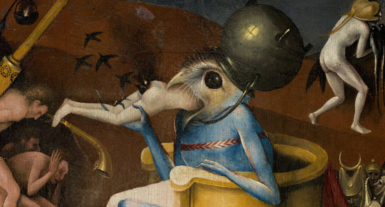Detail from: The Garden of Earthly Delights circa 1494-1516 Madrid - Museo Nacional del Prado