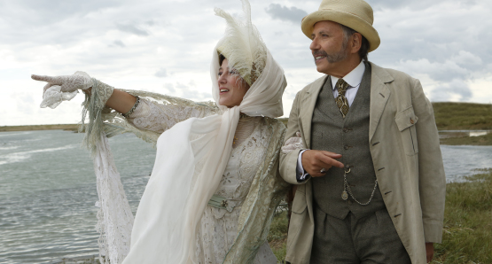 Valeria Bruni Tedeschi and Fabrice Luchini in <i>Slack Bay</i>.
