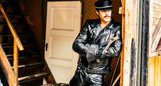 Niklas Hogner as Tom of Finland's character Kake. Photo by Josef Persson, courtesy Kino Lorber.