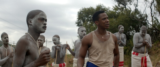 Bongile Mantsai in <i>The Wound</i>, courtesy Kino Lorber