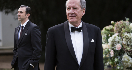 Paul Schneider (l), Geoffrey Rush (r), The Daughter