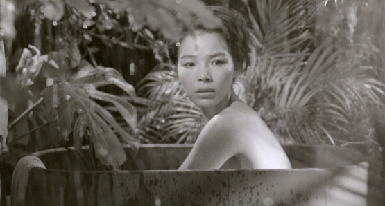 "Keiko, the ""Queen Bee"" of Anatahan (Akemi Negishi) arouses the attentions of twelve stranded sailors in Josef von Sternberg's ANATAHAN."