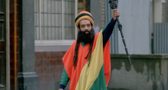 Cosmo Laidlaw as Rastaman in Franco Rosso's BABYLON.
