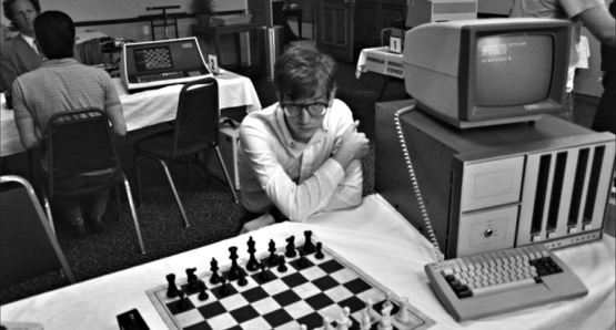 Patrick Riester as Peter Bishton in Computer Chess, a film by Andrew Bujalski.