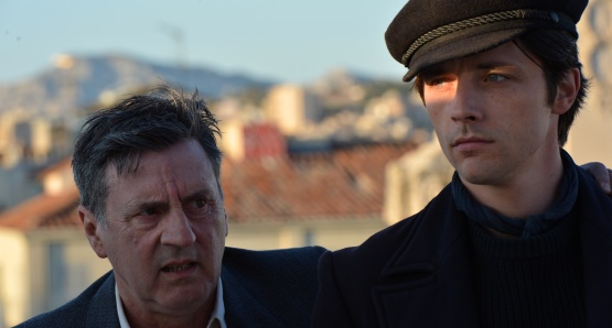 Daniel Auteuil as César and Raphaël Personnaz as Marius in FANNY, a film by Daniel Auteuil.