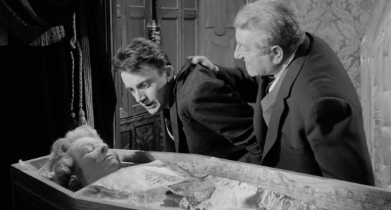 Serge Rousseau and Jean Gabin in MAIGRET AND THE ST. FIACRE CASE
