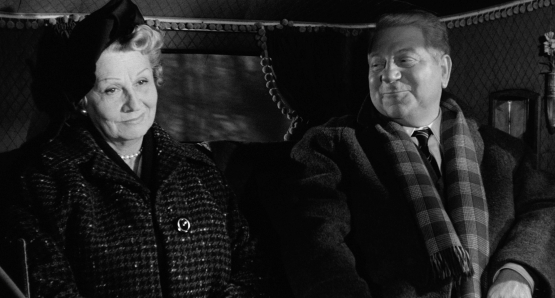 Valentine Tessier and Jean Gabin in MAIGRET AND THE ST. FIACRE CASE.