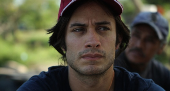 Gael Garcia Bernal crosses the Suchiate River on the Guatemala - Mexico border - Feb 2011.