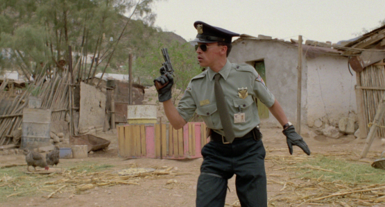 Roberto Sosa is the HIGHWAY PATROLMAN, a film by Alex Cox.