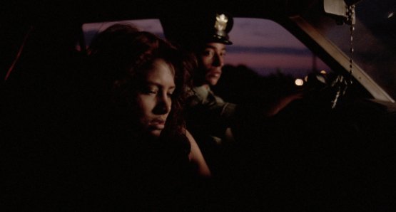 Roberto Sosa as Pedro and Vanessa Bauche as Maribel in Alex Cox's HIGHWAY PATROLMAN.