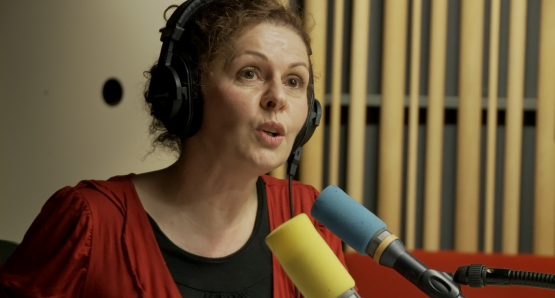 Caroline Ostermann in LA MAISON DE LA RADIO, a film by Nicolas Philibert.