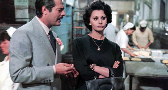 Marcello Mastroianni and Sophia Loren in Marriage Italian Style.