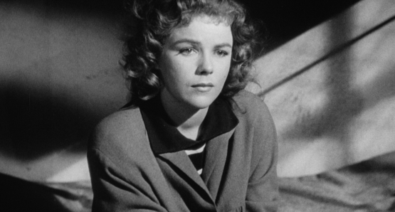 An imprisoned Sally (Sally Forrest) remembers what brought her to this moment in Ida Lupino's NOT WANTED.