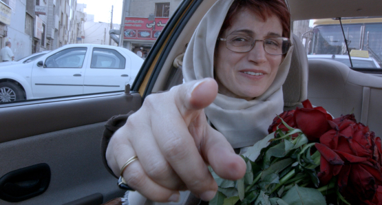 Scene from Jafar Panahi's Taxi