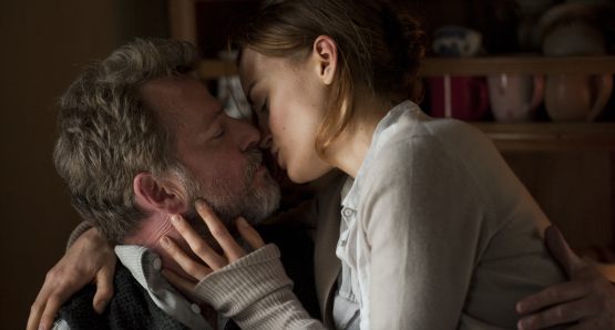 Aidan Quinn and Taylor Schilling in STAY.