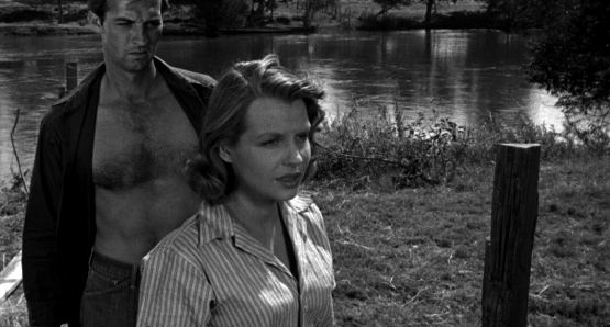 Zachary Scott and Betty Field in Jean Renoir's THE SOUTHERNER (1945).